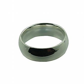 Silver 8mm plain Court Wedding Ring Size Z