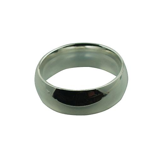 Silver 8mm plain Court Wedding Ring Size W