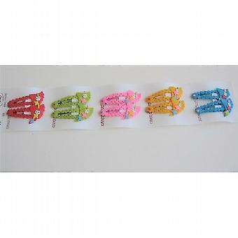 Mehrfarbige Mädchen Haarspangen sortierte Farben