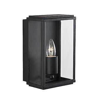 Black Rectangular Outdoor Garden Wall Light - Searchlight 8204BK