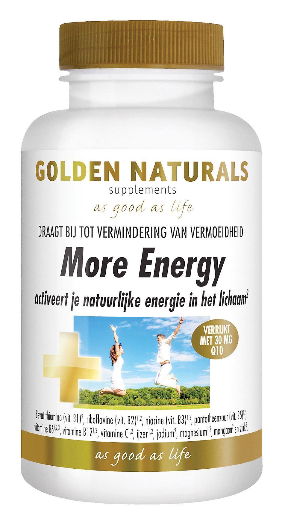 Golden Naturals More Energy (90 vegetarian tablets)