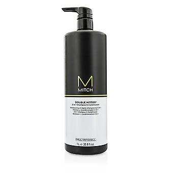 Paul Mitchell Mitch Double Hitter 2-in-1 Shampoo & Conditioner - 1000ml/33.8oz
