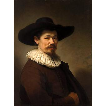 Portrett av Herman Doomer, Rembrandt, 50x37cm