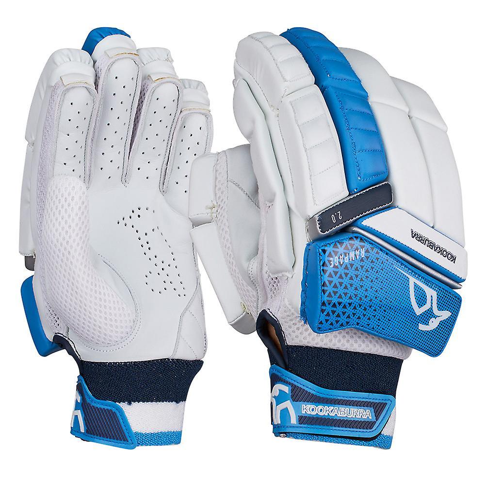 Kookaburra 2019 Rampage 2.0 Cricket Batting Gloves White/Blue