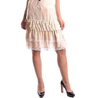 Pinko Beige Cotton Skirt
