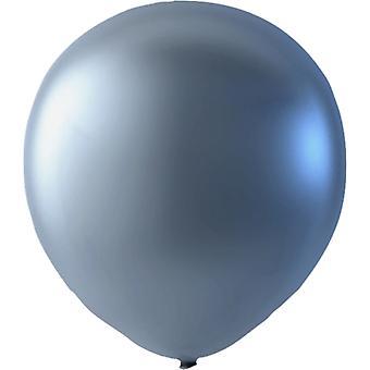 Ballons metallic Silber 25-pack