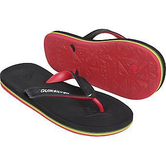 Quiksilver Mens Haleiwa II Casual stranden Thong sandaler - svart/rød/grønn