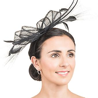Hawkins Collection Womens/Ladies Long Feather And Bow Fascinator