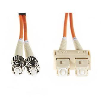 15M Sc St Om1 Multimode Fibre Optic Cable Orange
