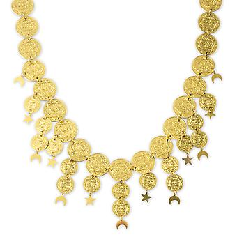 Oosterse ketting accessoire Crescent Star buikdanseres