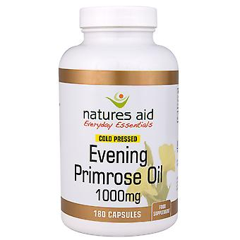 Natures Aid Evening Primrose Oil 1000mg (9-10% GLA) Cold Pressed, 180 Capsules