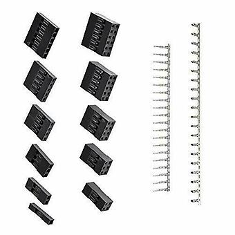 1420pcs JST Dupont 2.54 mm PH connector behuizing Kit met terminals (zwart)