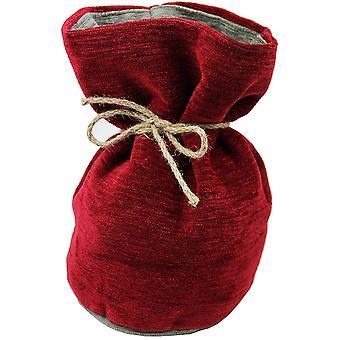 McAlister textilier Alston chenille röd + grå dörrs topp