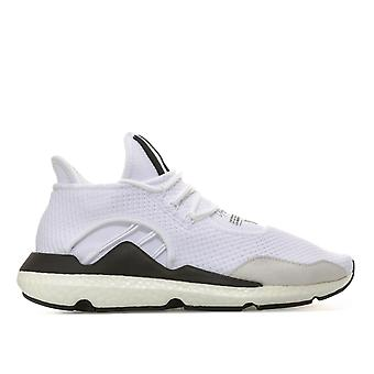 Mens Y-3 Saikou Trainers In White Black