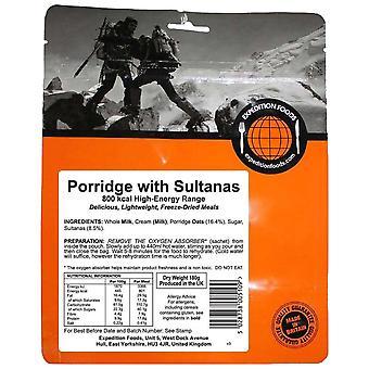 Expedition Foods svart gröt med sultanas