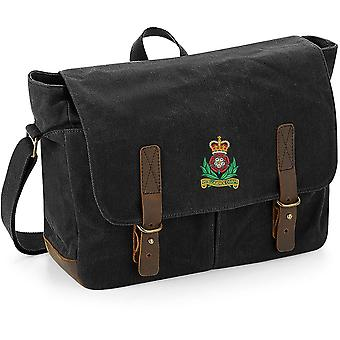 Intelligence Corps Colour - Licensed British Army Embroidered Waxed Canvas Messenger Bag