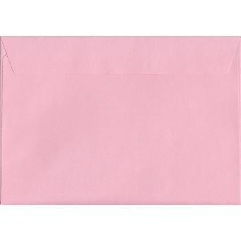Baby Rosa skal/tätning C5/A5 färgade rosa kuvert. 120gsm FSC hållbart papper. 162 mm x 229 mm. plånbok stil kuvert.