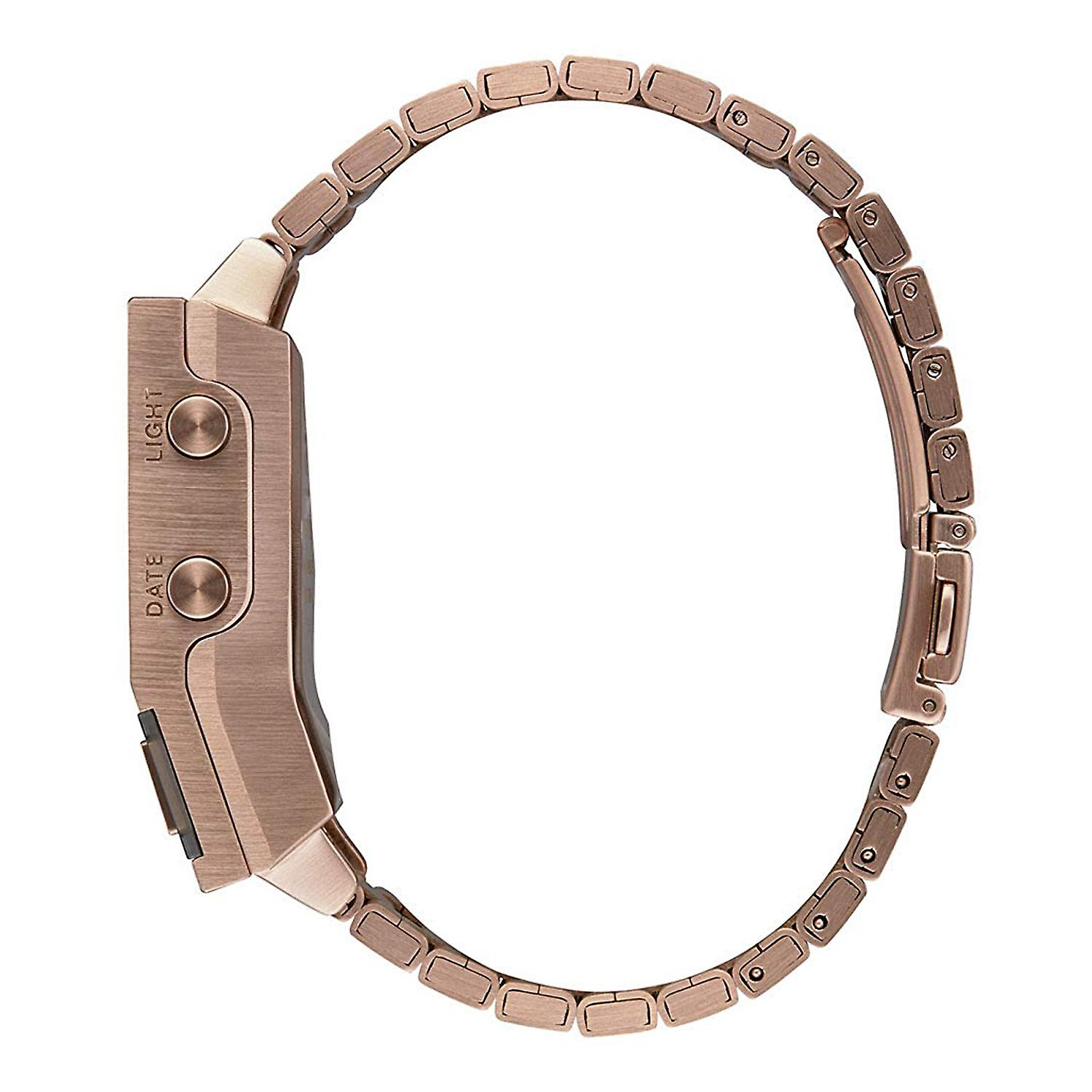 Nixon the dork too Japanese Quartz Digital Man Watch with A1266897 Gold Plated Stainless Steel Bracelet