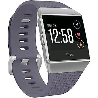 Fitbit ionic smartwatch with built-in gps and physical activity monitoring color grey blue/silver grey