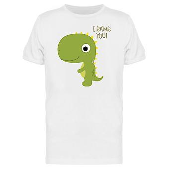 I Rawr Yoy, Cute Dino Tee Men's -Image by Shutterstock