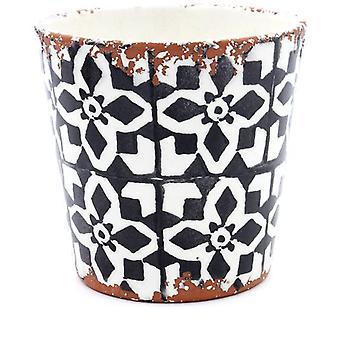 Eura Eura piatto in ceramica 14x12cm nero (Decorazione , Piante e vasi)