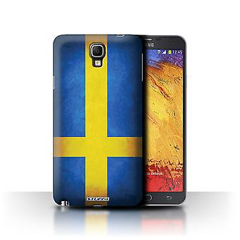 STUFF4 Case/Cover for Samsung Galaxy Note 3 Neo/Sweden/Swedish/Flags