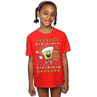 SpongeBob SquarePants Girls Ugly Christmas T-Shirt
