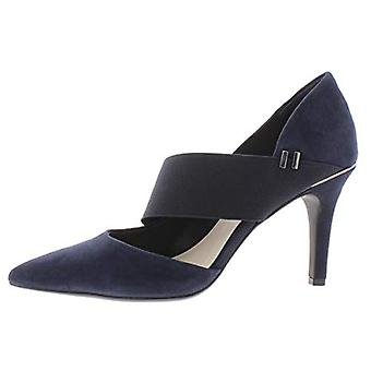 Alfani Womens Shellii Faux Suede Cut Out Pumps