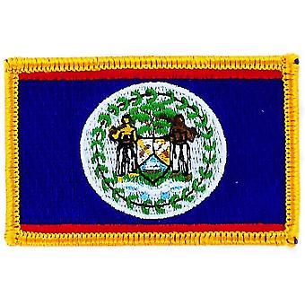Patch Ecusson Brode Drapeau Belize  Flag Thermocollant  Blason Insigne