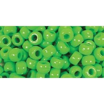 Barrel Pony Beads 9Mmx6mm 175 Pkg Kelly Green Bd239 D