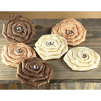 Allure Fabric Flowers With Gem 1.75