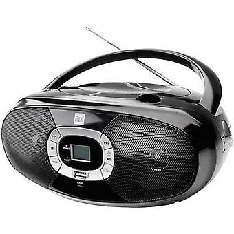 FM Radio/CD Dual P 390 CD, AM, FM, USB Black