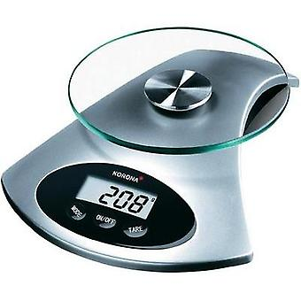 Kitchen scales digital Korona Sandy Weight range=5 kg Aluminium