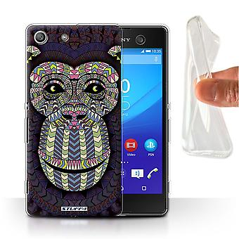 STUFF4 Gel/TPU Case/Cover für Sony Xperia M5/Monkey-Farbe/Azteken Tier