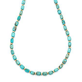 Lola Rose Roxane halskæde naturlige blå magnesit