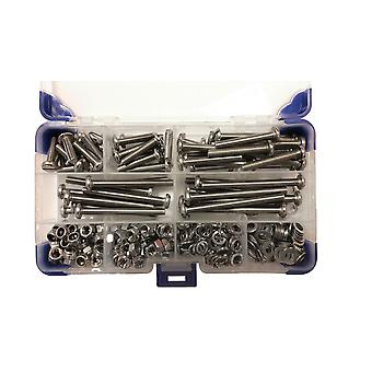 1245 Piece M3 Pan Slotted Machine Screws Zinc Plated with Nuts and Washers