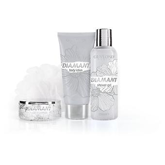 Guylond Silver Bath Set Diamant Bag Black (Woman , Perfume , Gels And Lotions)