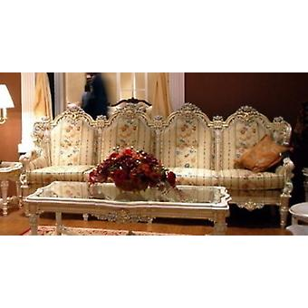 baroque sofa carved 4 seater 4 seater  salon set suite antique style Vp0844