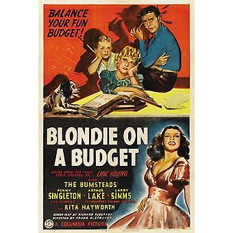 Blondie en un presupuesto Movie Poster (11 x 17)