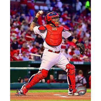 Yadier Molina 2014 Action Photo Print