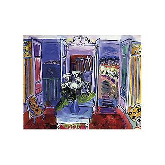 Interior with Open Windows Poster Print by Raoul Dufy (27 x 20)