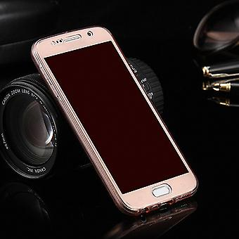 Crystal case cover for Samsung Galaxy E5 pink frame full body