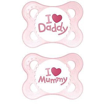 MAM Style Soother 0+ months 2 pack - Pink