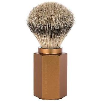 Muhle Sechseck Dachs Silvertip Pinsel in Bronze-Finish