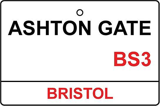 Bristol City / Ashton Gate Street Sign deodorante per auto
