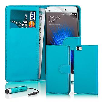 32nd Book wallet case + stylus for Xiaomi Mi5 - Light Blue