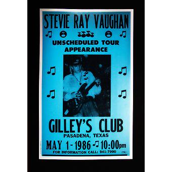 Stevie Ray Vaughan retro concert poster