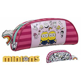 Safta Minions Rosa Portatodo Oval 22X9X5 (Toys , School Zone , Pencil Case)