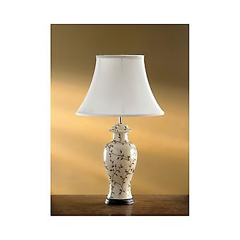 Luis Collection Bird Crackle Temple Jar Table Lamp