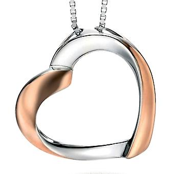 925 Silver Rose Gold Plated Fashionable Heart Necklace